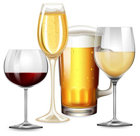 Set alkoholische Getränke 446605 Vektor Kunst bei Vecteezy