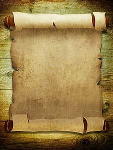 pirate scroll template - vertical version vintage paper scroll background image