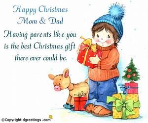 Happy Christmas Mom & Dad Christmas Family Cards