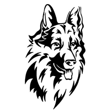 long haired german shepherd car sticker  top dog deals