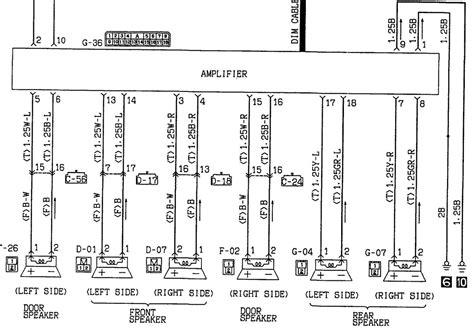 mitsubishi car stereo wiring diagram 1991 eclipse wiring
