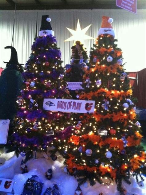 ravens and orioles xmas tree looove it christmas decorations pinterest