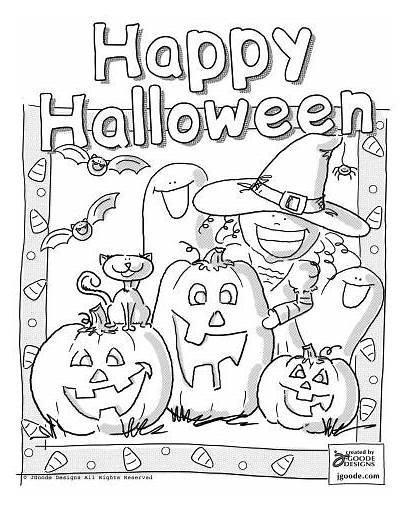 Halloween Coloring Happy Scene Jen Goode