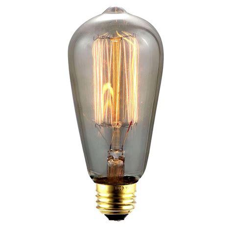home depot edison lights elegant lighting 40 w incandescent e26 vintage edison