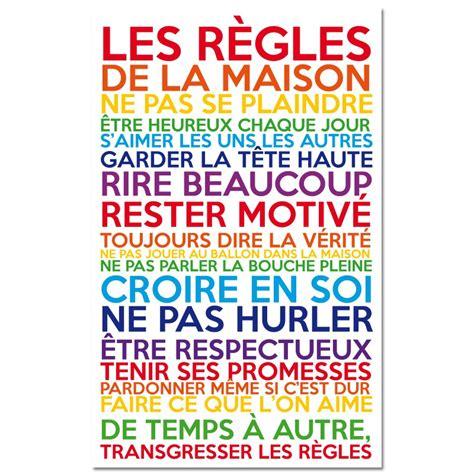 stickers regles de la maison sticker les r 232 gles de la maison multicolore pas cher stickers citations discount stickers