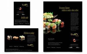 Tourism Flyer Template Sushi Restaurant Flyer Ad Template Design