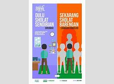 """Poster Dakwah Bertema """"Dulu Dan Sekarang"""" Karya Kata"""