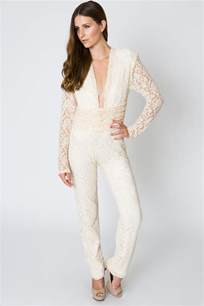 jumpsuit wedding lace evening jumpsuit 70s style dreamers and
