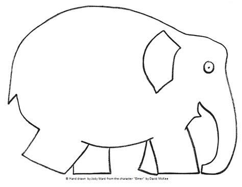 Elmer The Elephant Template by Mrs Ward S Land Of The Learners A Freebie