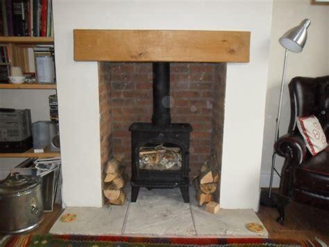 brick fireplace creating the illusion of a brick fireplace recess
