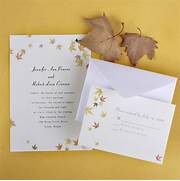 Ivory And Yellow Maple Leaves Fall Affordable Wedding Pocket Wedding Invitations Cheap Invites At Ideas For Inexpensive Wedding Invitations Cheap Fall Wedding Invitations HASKOVO ME