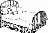 Bed Coloring Clipart Furniture Brass Bedroom 1828 Webstockreview sketch template