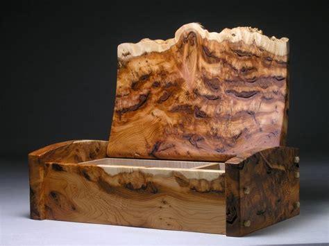 decorative boxes burl edge box decor object
