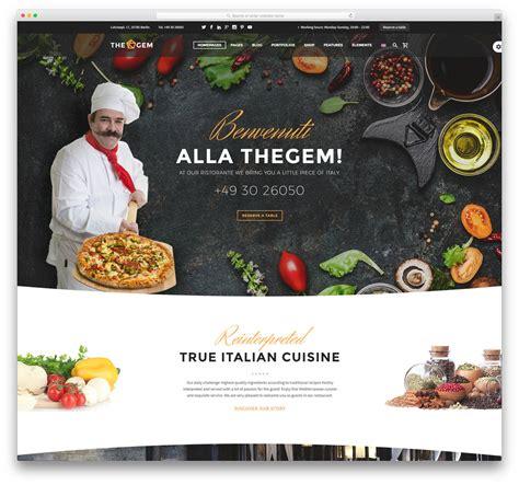 cuisine site 40 best restaurant themes 2018 colorlib