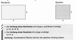 Flächeninhalt Berechnen Quadrat : berechnungen an rechteck und quadrat ~ Themetempest.com Abrechnung