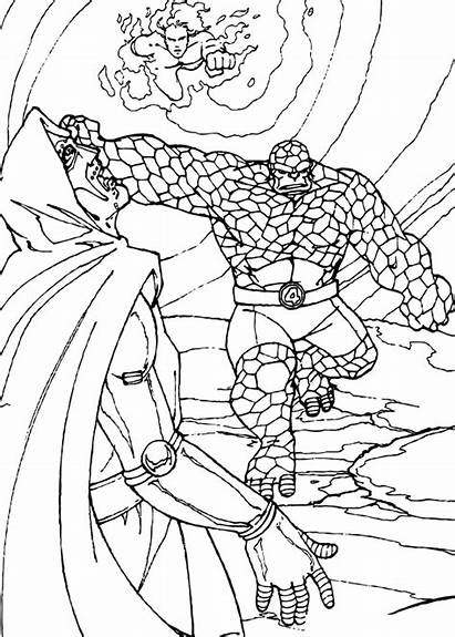 Action Thing Coloring Pages Heroes Hellokids Super