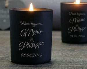 Cadeau Pour 1 An De Couple : bougie grav e mariage ~ Melissatoandfro.com Idées de Décoration