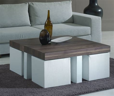 Ottoman foot stool, coffee table (chesterfield design). Coffee Table With Pull Out Ottomans   Roy Home Design