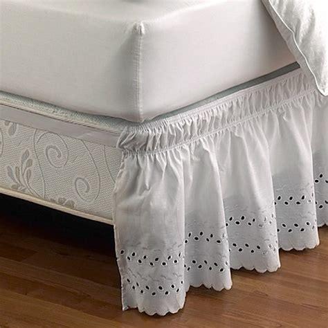 ruffled eyelet bed skirt bed bath