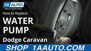 How To Replace Water Pump 01 3 8l Dodge Caravan