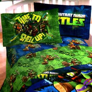 3pc teenage mutant ninja turtles twin bed sheet set