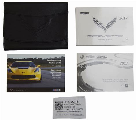 chevy corvette  owners manual canada version black