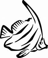 Fish Coloring Angel sketch template