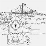 Minion Coloring Minions Pages Viking Drawing Nordic Cartoon Printable Sheets Happy Summer Illustration Banana Adult Vikings Sea North Characters Sky sketch template
