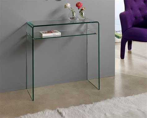 glass console table with shelf small modern console table home office desk with hutch