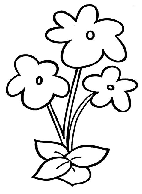 simple flower coloring pages getcoloringpagescom