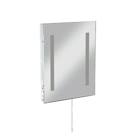 rctm2t8 wall mounted mirror light c w shaver socket 500