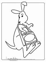 Kangaroo Coloring Word Printables Pages Wallaby Template Printable Searches Preschool Templates Activities Worksheets Math Popular Sketch Books sketch template