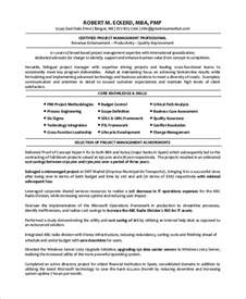 resume personal and professional skills development sle project manager resume 8 exles in word pdf