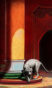 Palais soleil couchant - tigre blanc - Dusk Castle - white ...