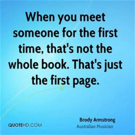 Meeting Your First Time Quotes