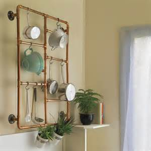 on the wall pot rack 37 easy ways to add storage to