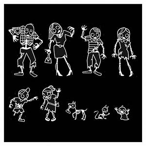 The gallery for --> Zombie Family Car Stickers
