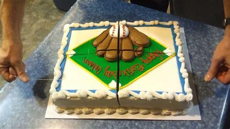 cutting sheet cake fishing  method youtube