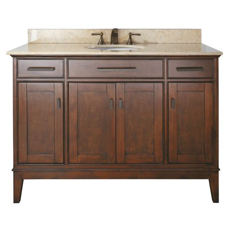 48 bathroom vanity with top and sink 48 inch single sink bathroom vanity in tobacco finish with
