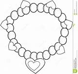 Coloring Bracelet Necklace Pages Colouring Einsteins Drawing Pearl Jewelry Printable Drawings 1375 5kb 1300px sketch template