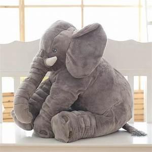 Peluche Elephant Geant : pelupeluche d 39 l phant g ant 65 cmche d 39 l phant g ant 65 cm boutique maman ~ Teatrodelosmanantiales.com Idées de Décoration