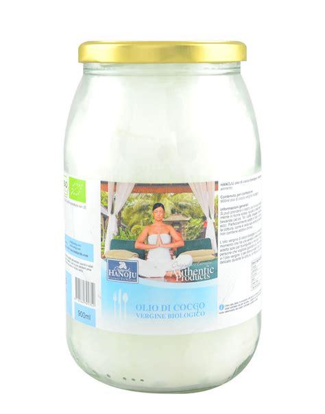 olio di cocco biologico alimentare olio di cocco vergine biologico di hanoju 900ml