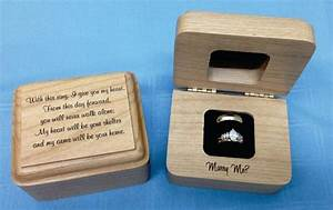 wedding ring boxengagement ring boxwooden ring box With personalised wedding ring box