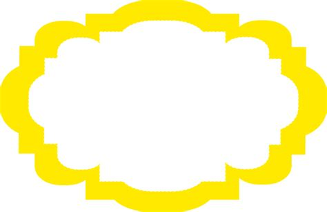 large mirror yellow frame clip at clker com vector clip