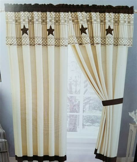 western lone curtain set 60 x 84 x 18 matches 3