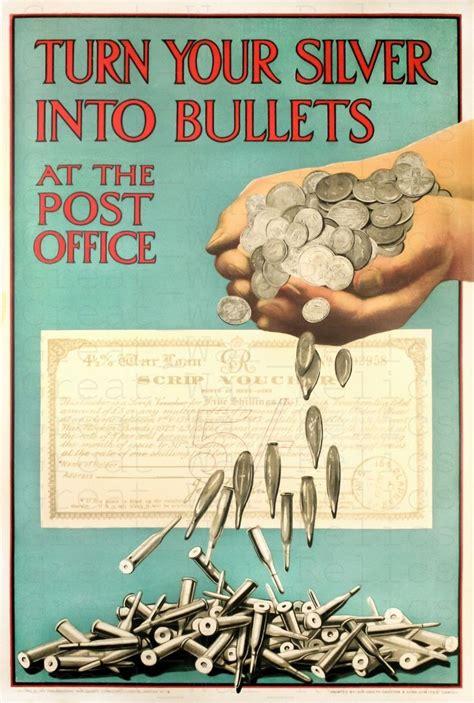details  american propaganda poster turn  silver