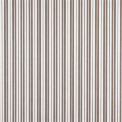 Ticking Upholstery Fabric by B465 Grey Ticking Stripe Outdoor Marine Scotchgard