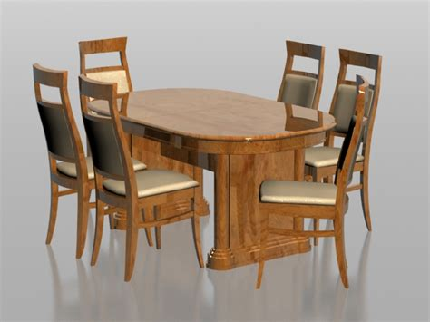 dining table set 6 seater 6 seater dining set 3d model 3dsmax files free download