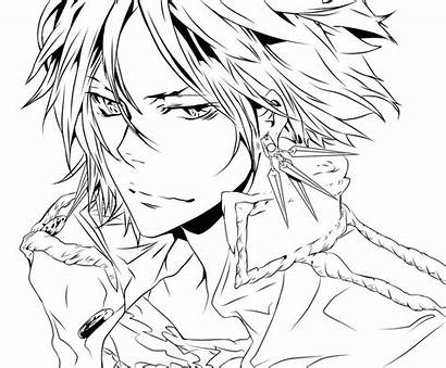Line Lineart Anime Coloring Pages Hitman Reborn