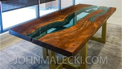 Live Edge River Table  Woodworking Howto Johnmaleckicom